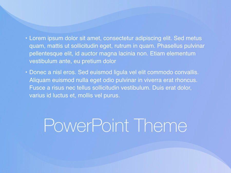 Blue Wave PowerPoint Template, Slide 12, 05286, Presentation Templates — PoweredTemplate.com