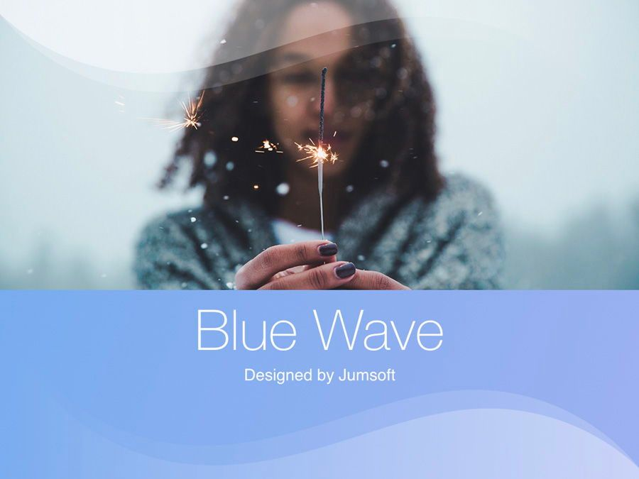 Blue Wave PowerPoint Template, Slide 2, 05286, Presentation Templates — PoweredTemplate.com
