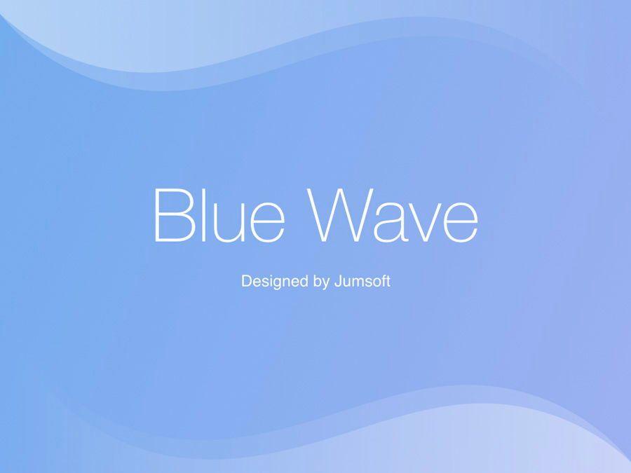 Blue Wave PowerPoint Template, Slide 3, 05286, Presentation Templates — PoweredTemplate.com