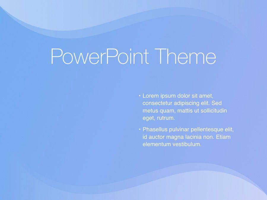 Blue Wave PowerPoint Template, Slide 33, 05286, Presentation Templates — PoweredTemplate.com