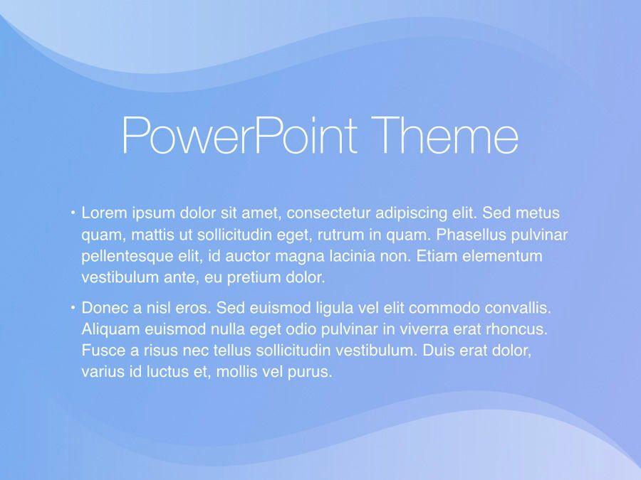 Blue Wave PowerPoint Template, Slide 4, 05286, Presentation Templates — PoweredTemplate.com