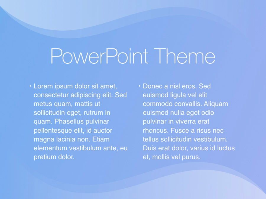 Blue Wave PowerPoint Template, Slide 5, 05286, Presentation Templates — PoweredTemplate.com
