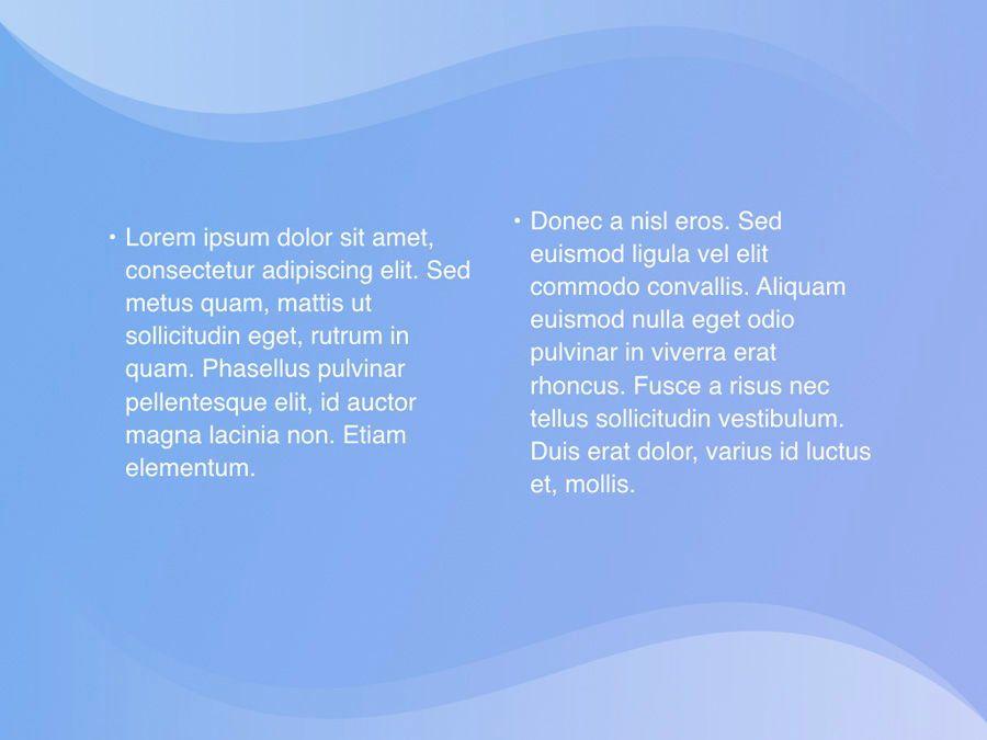 Blue Wave PowerPoint Template, Slide 7, 05286, Presentation Templates — PoweredTemplate.com