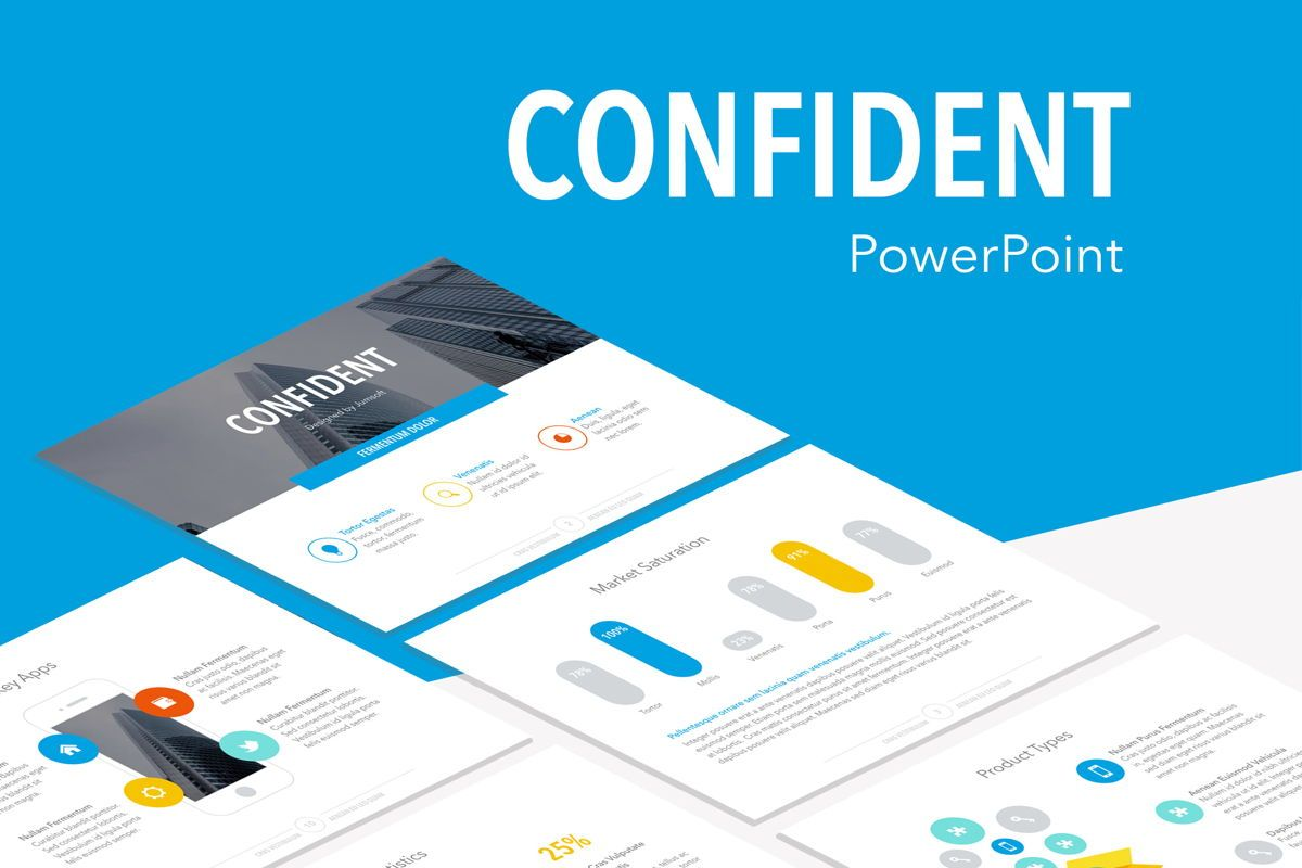 Confident PowerPoint Template, 05287, Infographics — PoweredTemplate.com