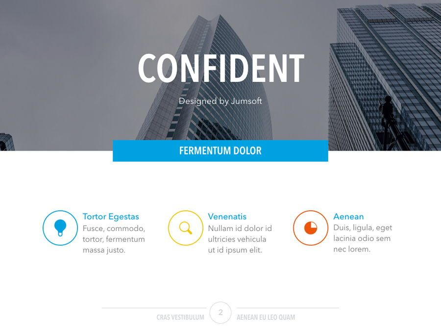 Confident PowerPoint Template, Slide 3, 05287, Infographics — PoweredTemplate.com