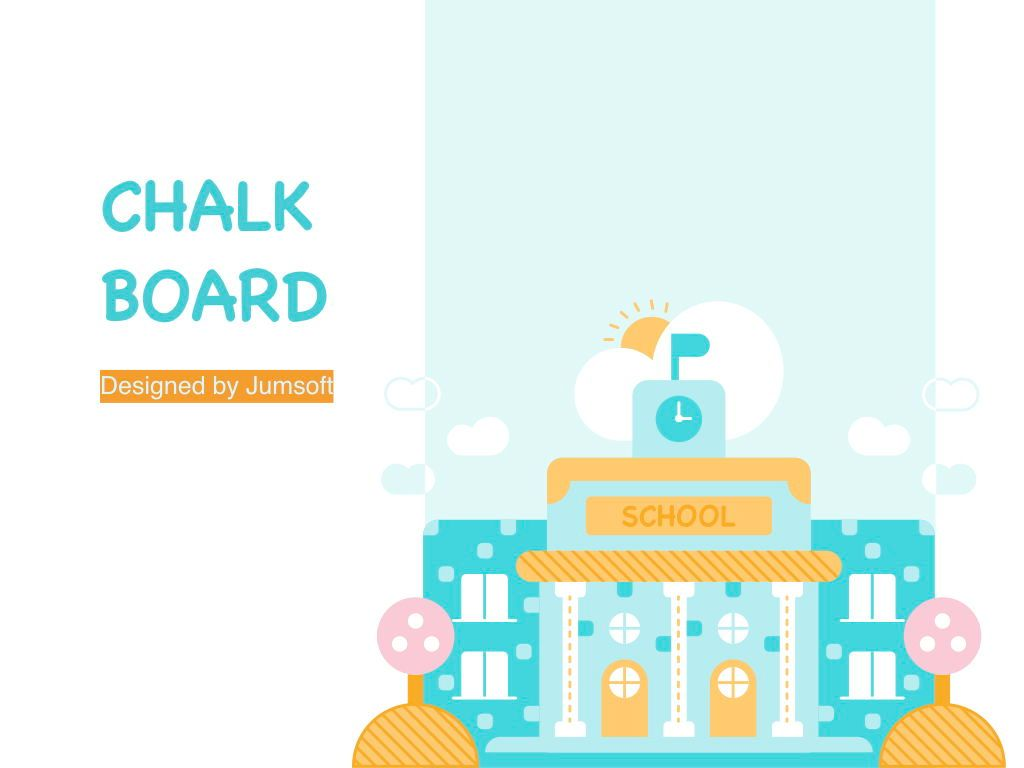 Chalkboard PowerPoint Template, Slide 2, 05288, Education Charts and Diagrams — PoweredTemplate.com