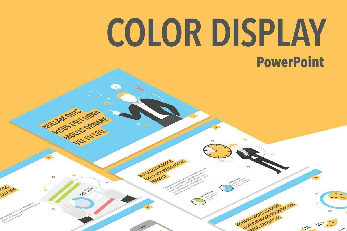 Color Display PowerPoint Template, 05289, Presentation Templates — PoweredTemplate.com