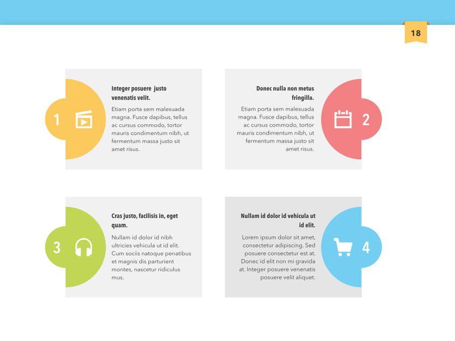 Color Display PowerPoint Template, Slide 19, 05289, Presentation Templates — PoweredTemplate.com