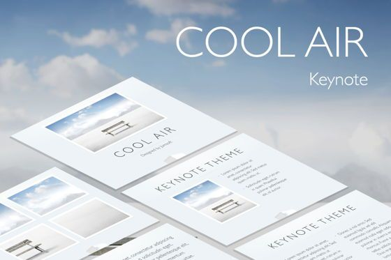 Presentation Templates: Cool Air Keynote Template #05290