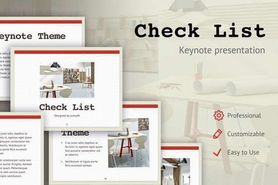 Presentation Templates: Check List Keynote Template #05291