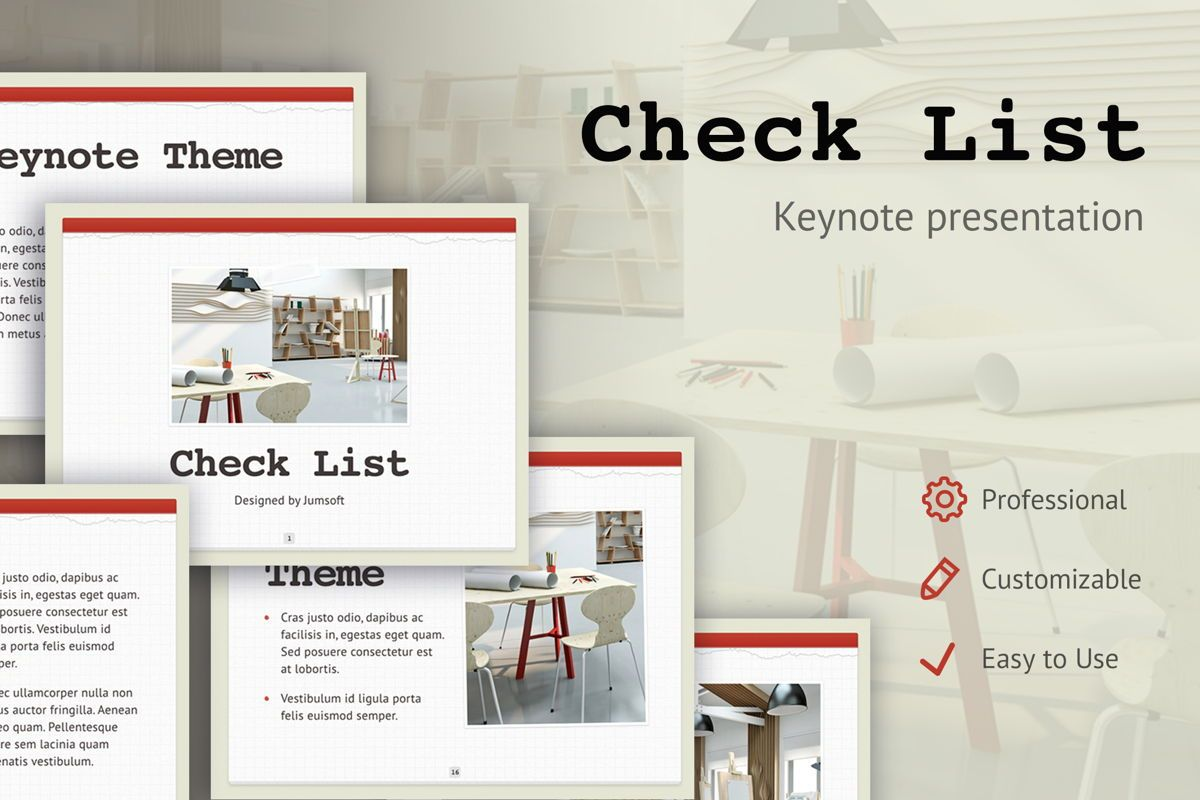Check List Keynote Template, 05291, Presentation Templates — PoweredTemplate.com