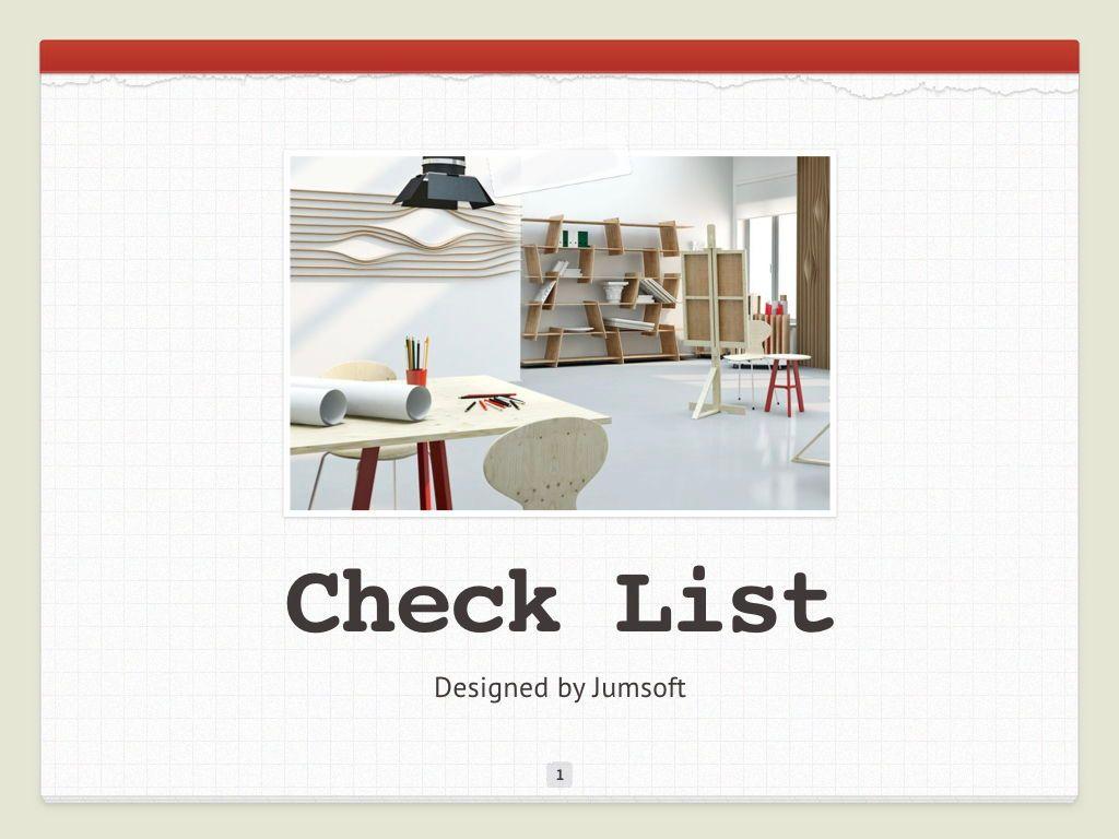 Check List Keynote Template, Slide 2, 05291, Presentation Templates — PoweredTemplate.com