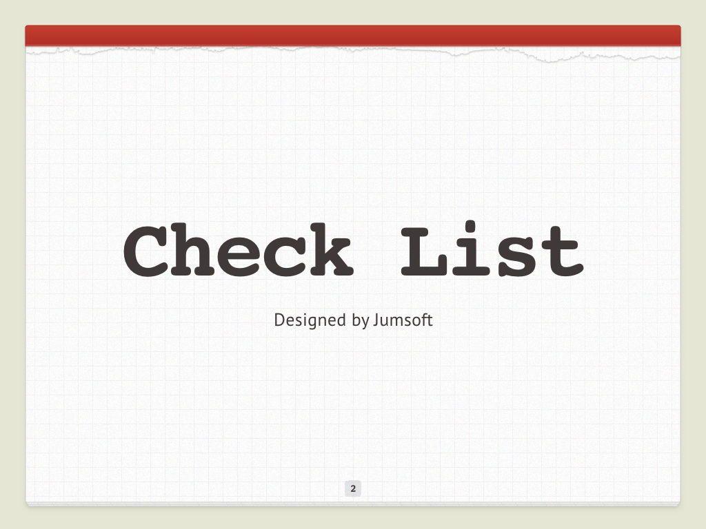 Check List Keynote Template, Slide 3, 05291, Presentation Templates — PoweredTemplate.com