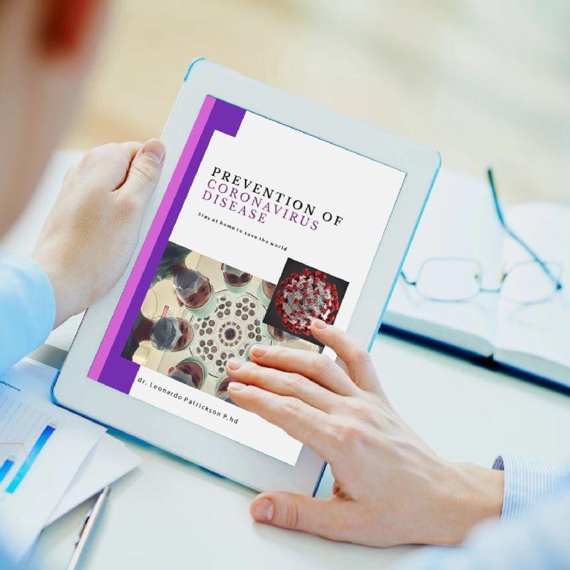 Prevention of coronavirus disease ebook template powerpoint presentation, Slide 2, 05292, Presentation Templates — PoweredTemplate.com