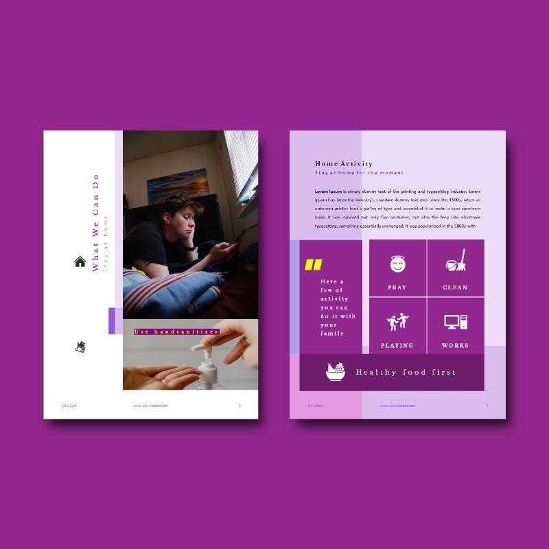 Prevention of coronavirus disease ebook template powerpoint presentation, Slide 4, 05292, Presentation Templates — PoweredTemplate.com