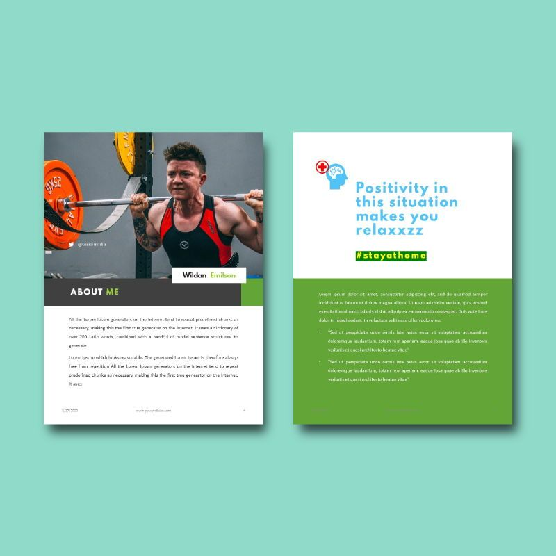 Daily fitness at your home ebook powerpoint presentation template, Slide 3, 05293, Presentation Templates — PoweredTemplate.com