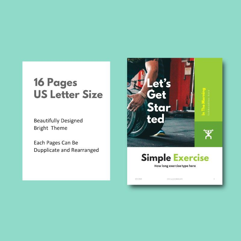 Daily fitness at your home ebook powerpoint presentation template, Slide 4, 05293, Presentation Templates — PoweredTemplate.com