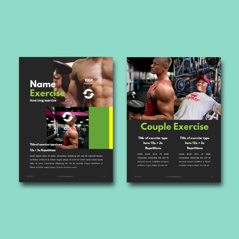 Daily fitness at your home ebook powerpoint presentation template, Slide 6, 05293, Presentation Templates — PoweredTemplate.com