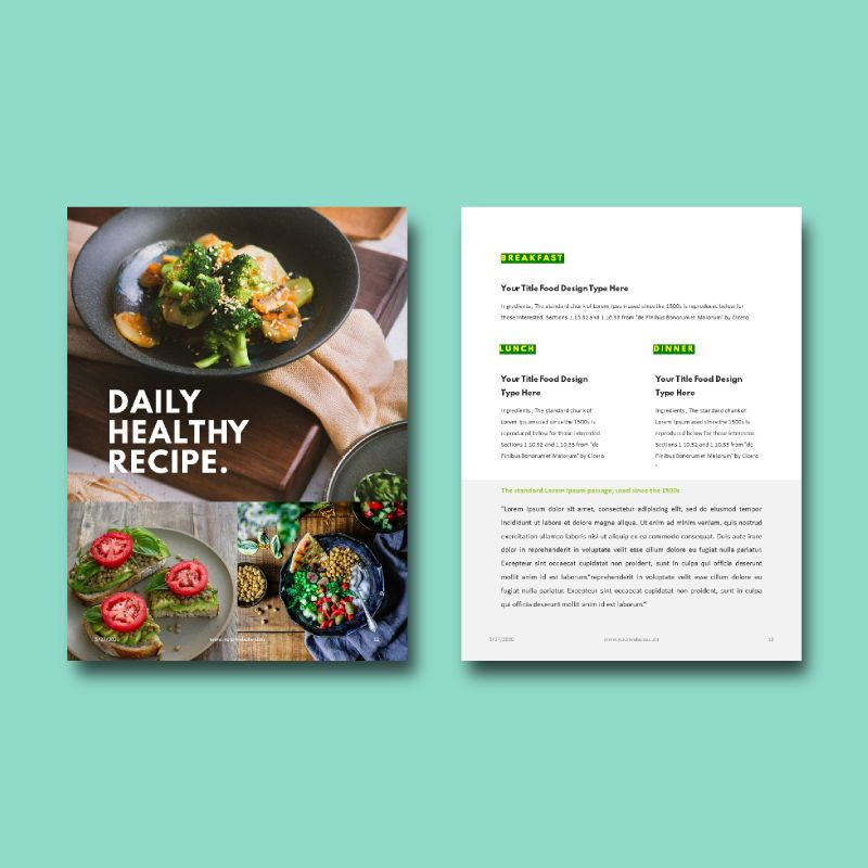 Daily fitness at your home ebook powerpoint presentation template, Slide 7, 05293, Presentation Templates — PoweredTemplate.com