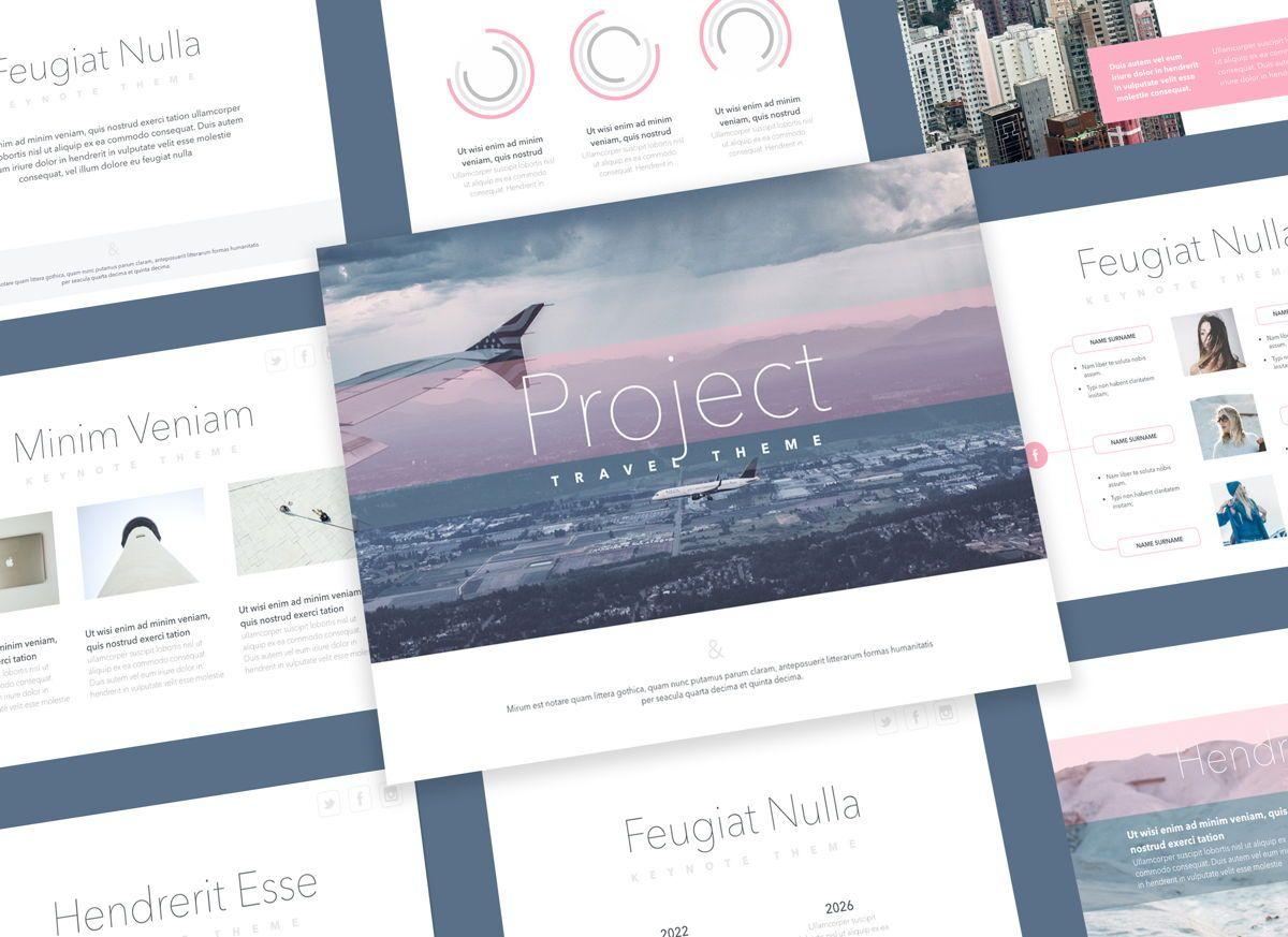 Ascent Keynote Presentation Template, 05294, Presentation Templates — PoweredTemplate.com