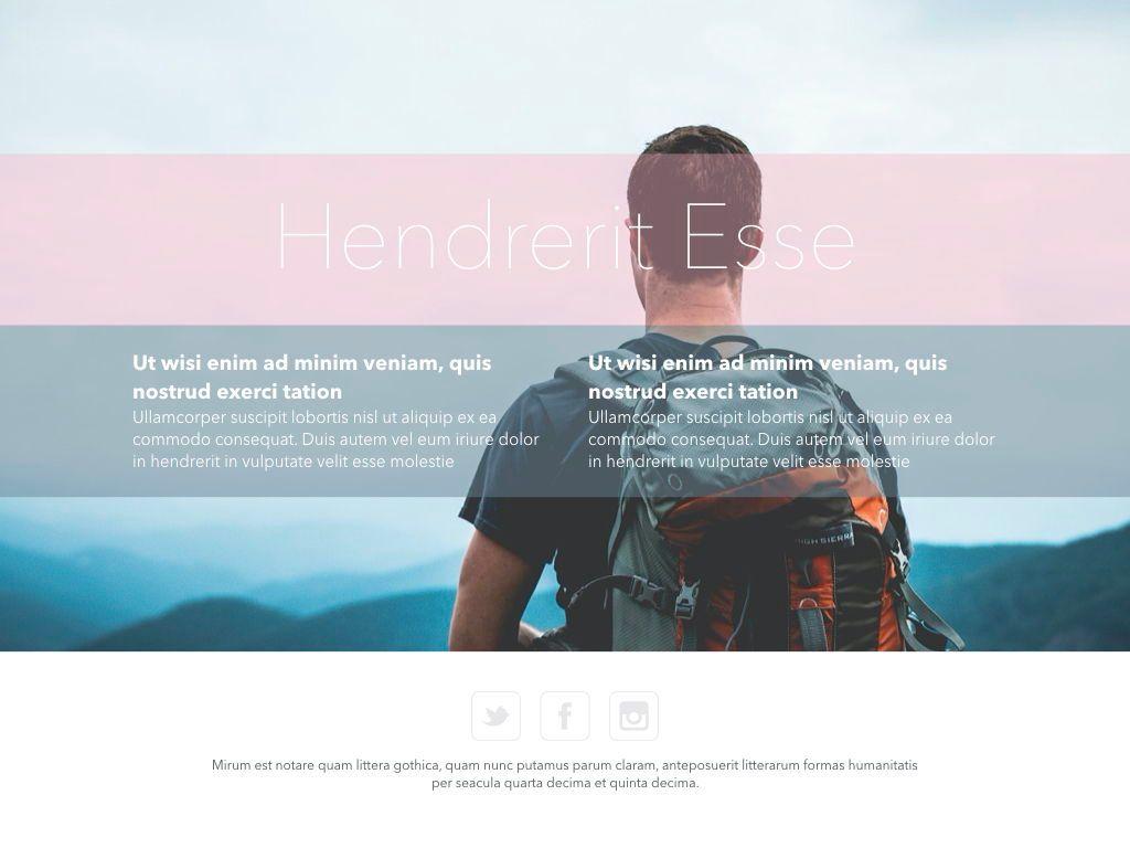 Ascent Keynote Presentation Template, Slide 13, 05294, Presentation Templates — PoweredTemplate.com