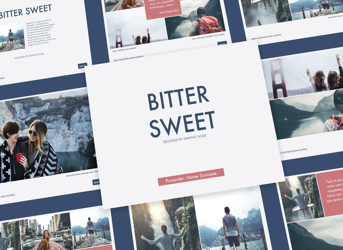 Bitter Sweet Keynote Presentation Template, 05295, Presentation Templates — PoweredTemplate.com