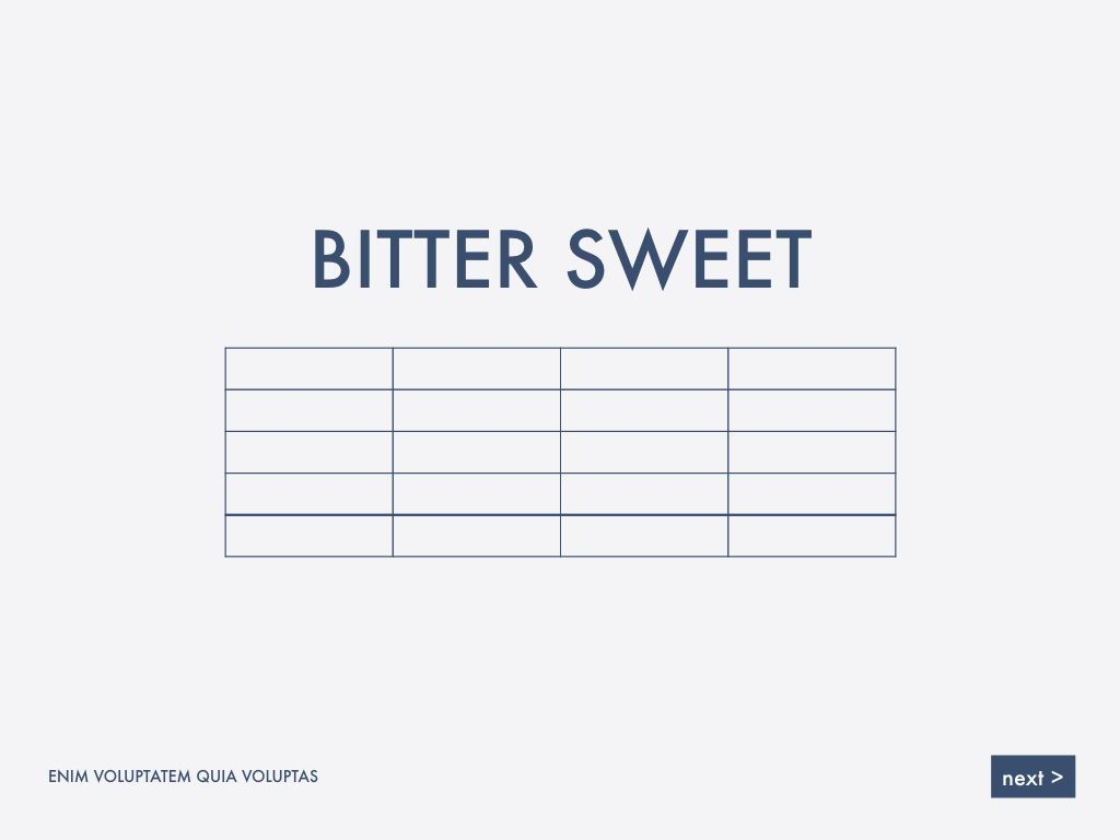 Bitter Sweet Keynote Presentation Template, Slide 13, 05295, Presentation Templates — PoweredTemplate.com