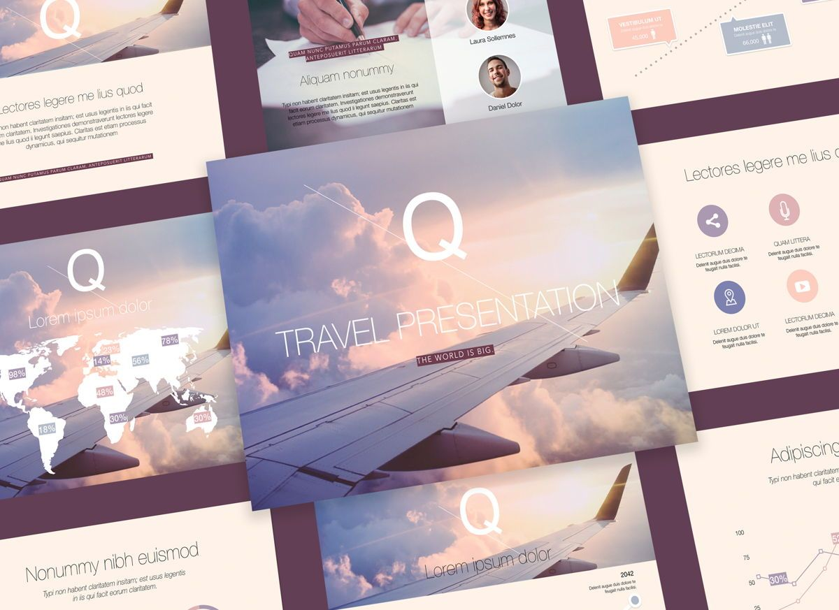 Out on Weekend Keynote Presentation Template, 05299, Presentation Templates — PoweredTemplate.com