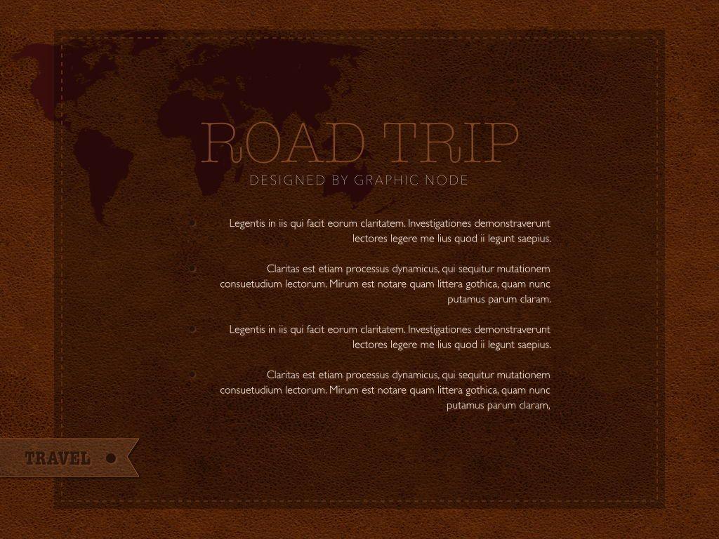 Road Trip Keynote Presentation Template, Slide 10, 05300, Presentation Templates — PoweredTemplate.com