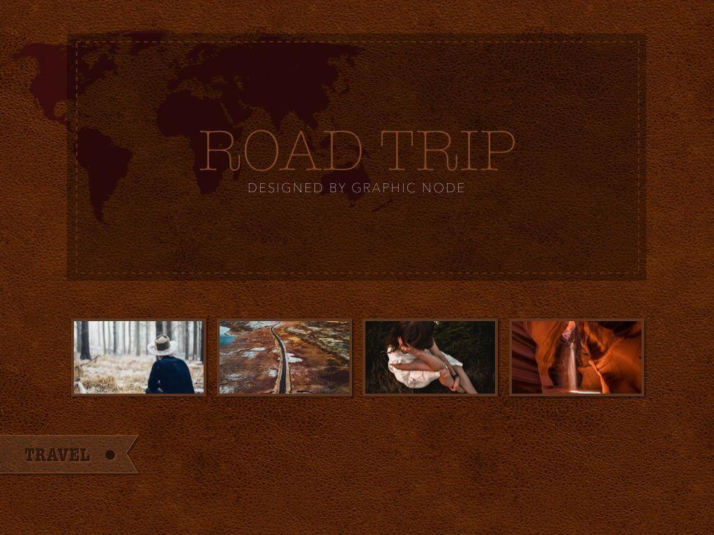Road Trip Keynote Presentation Template, Slide 12, 05300, Presentation Templates — PoweredTemplate.com