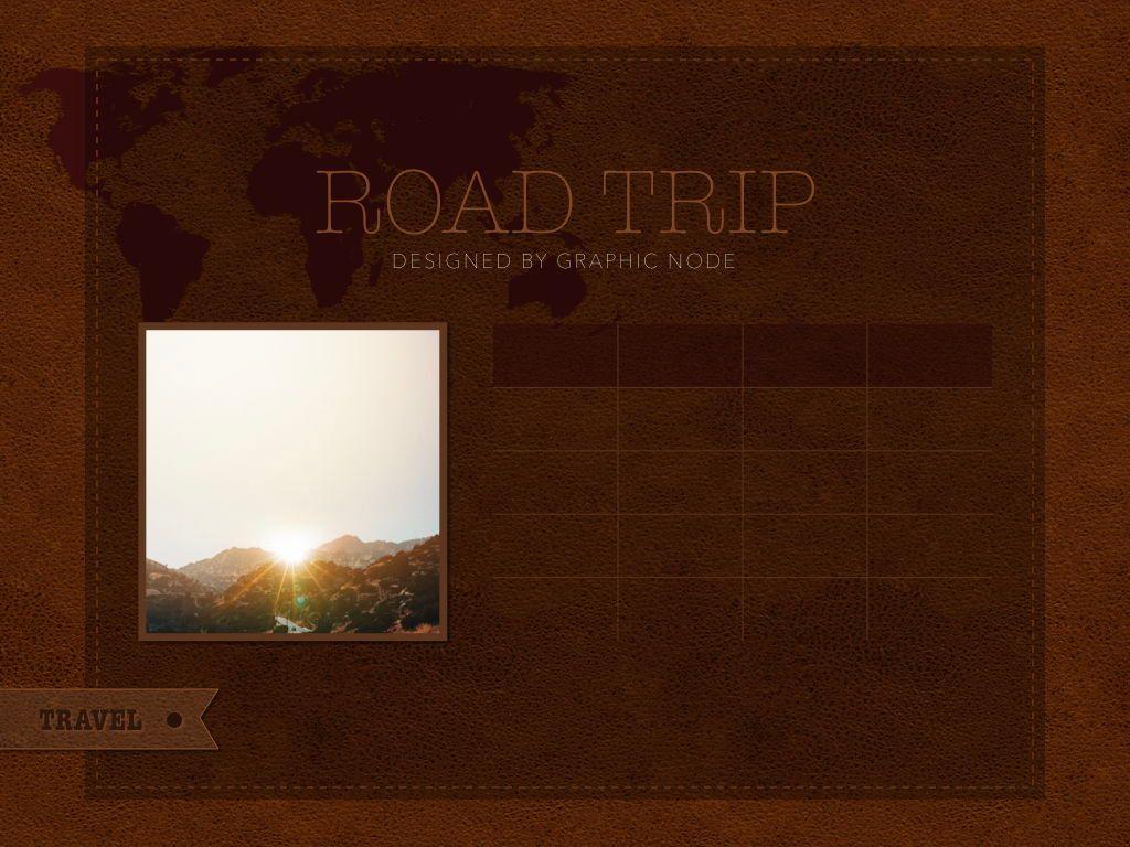 Road Trip Keynote Presentation Template, Slide 13, 05300, Presentation Templates — PoweredTemplate.com