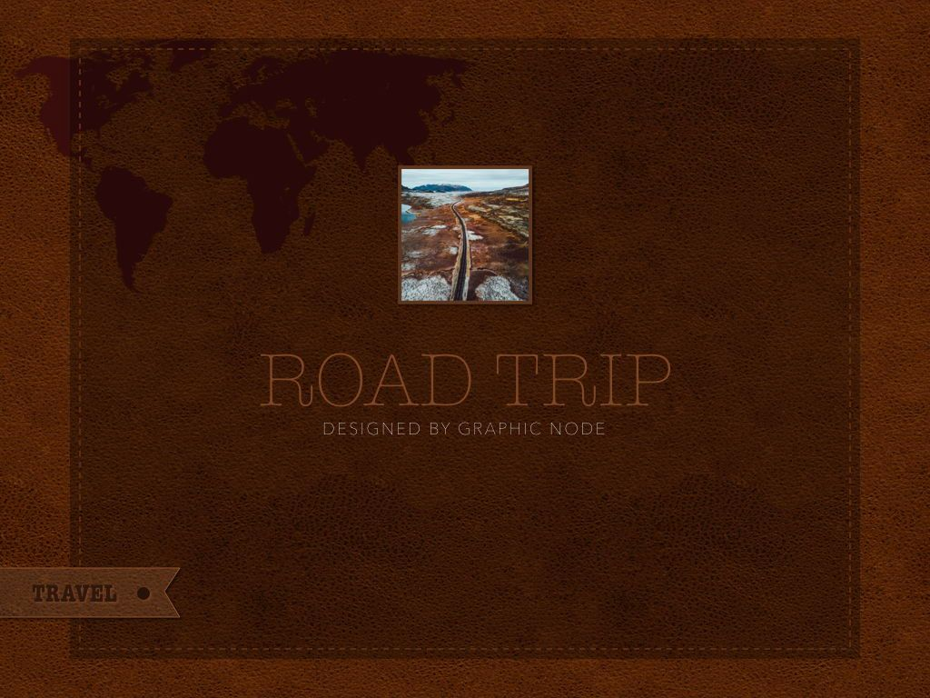 Road Trip Keynote Presentation Template, Slide 14, 05300, Presentation Templates — PoweredTemplate.com