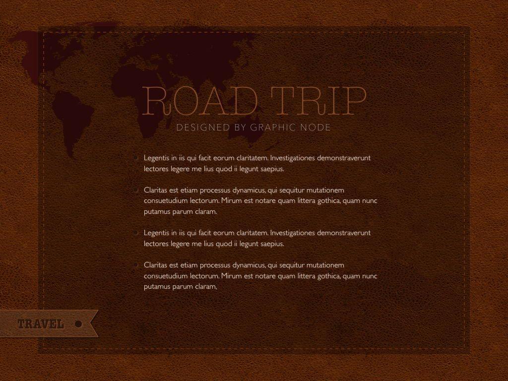 Road Trip Keynote Presentation Template, Slide 16, 05300, Presentation Templates — PoweredTemplate.com