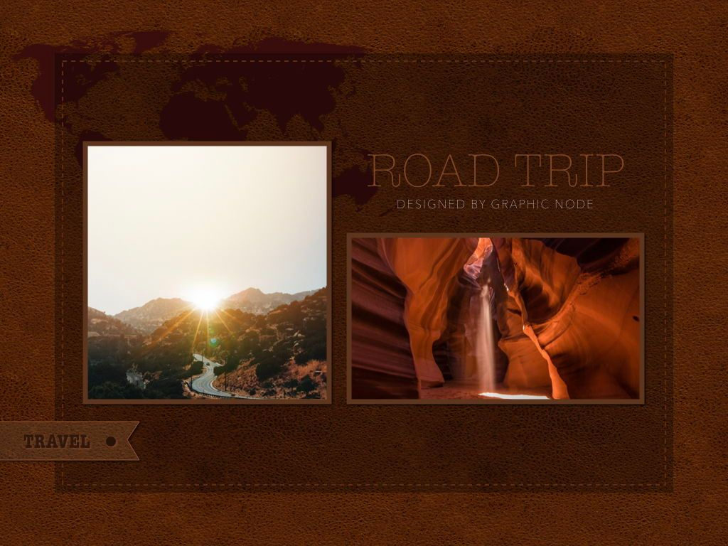 Road Trip Keynote Presentation Template, Slide 3, 05300, Presentation Templates — PoweredTemplate.com