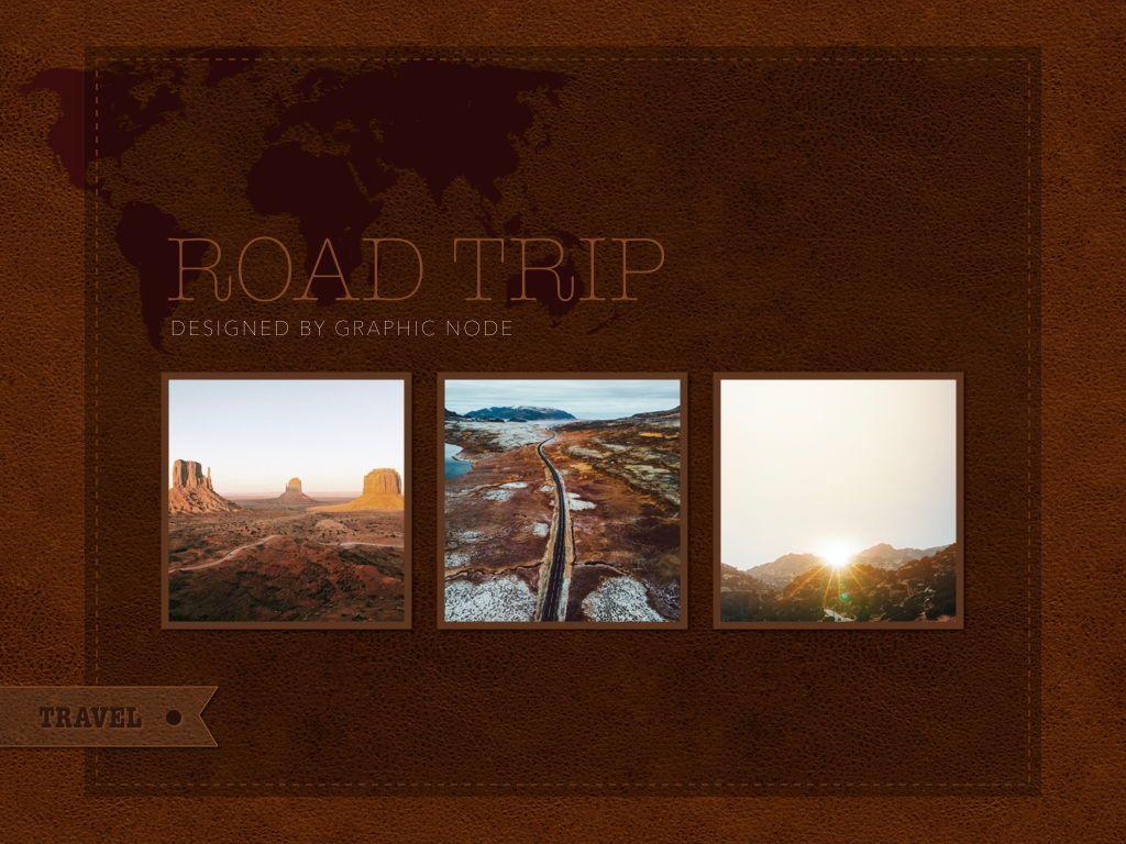 Road Trip Keynote Presentation Template, Slide 8, 05300, Presentation Templates — PoweredTemplate.com