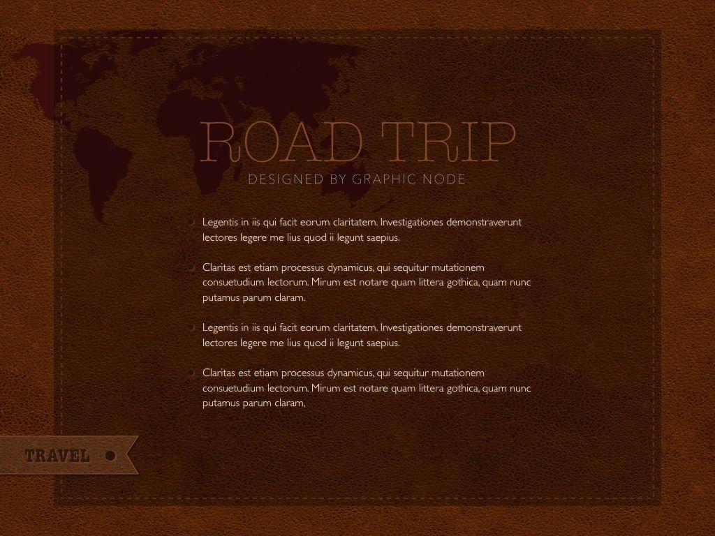 Road Trip Keynote Presentation Template, Slide 9, 05300, Presentation Templates — PoweredTemplate.com