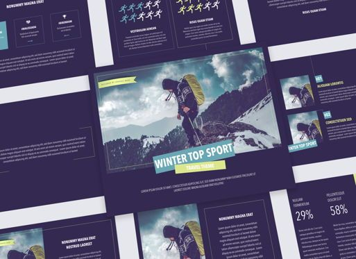 Presentation Templates: Work Out Keynote Presentation Template #05301