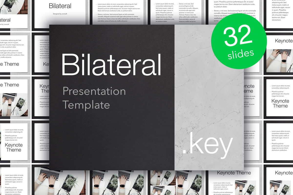 Bilateral Keynote Template, 05303, Presentation Templates — PoweredTemplate.com