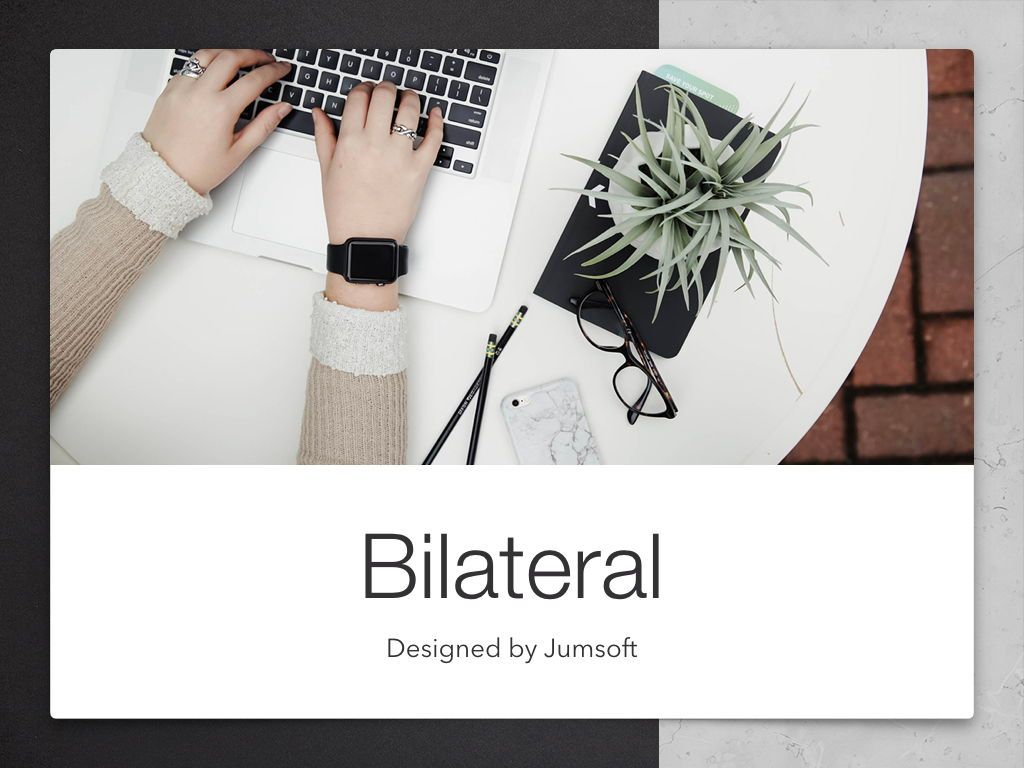 Bilateral Keynote Template, Slide 2, 05303, Presentation Templates — PoweredTemplate.com