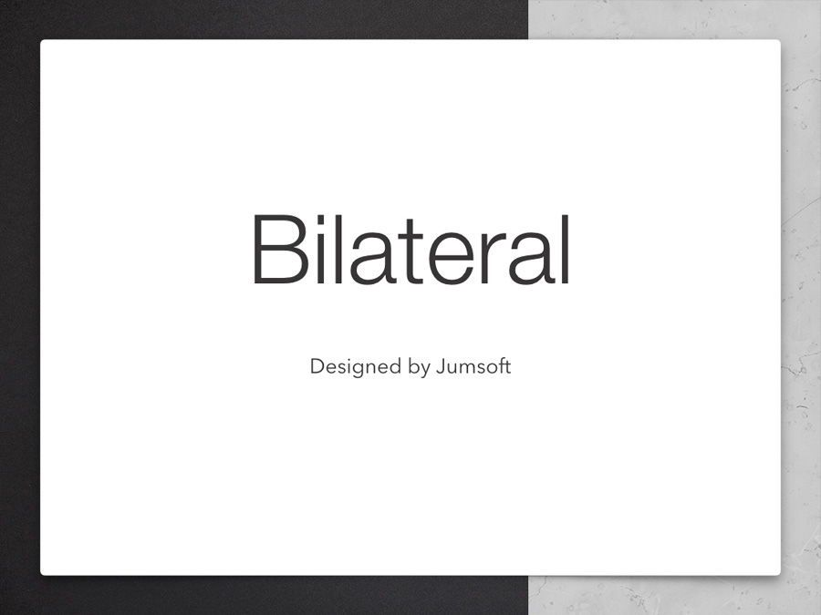Bilateral Keynote Template, Slide 3, 05303, Presentation Templates — PoweredTemplate.com