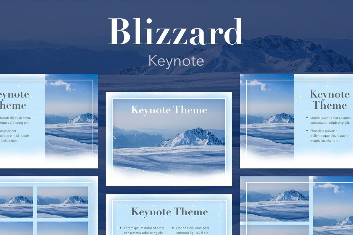 Blizzard Keynote Template, 05304, Presentation Templates — PoweredTemplate.com
