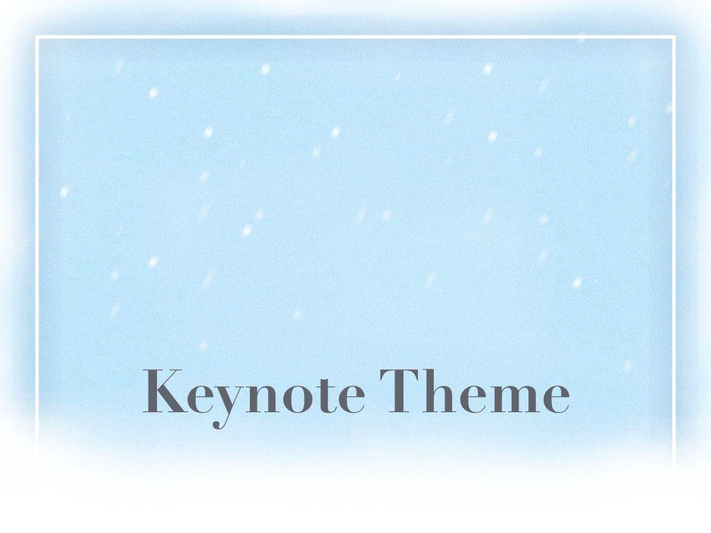 Blizzard Keynote Template, Slide 11, 05304, Presentation Templates — PoweredTemplate.com