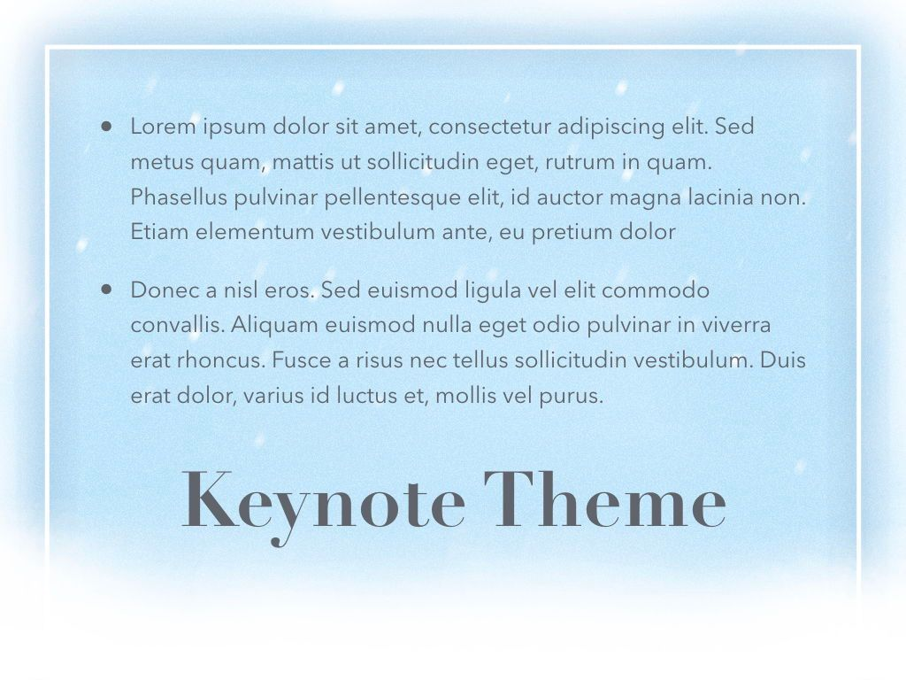 Blizzard Keynote Template, Slide 12, 05304, Presentation Templates — PoweredTemplate.com