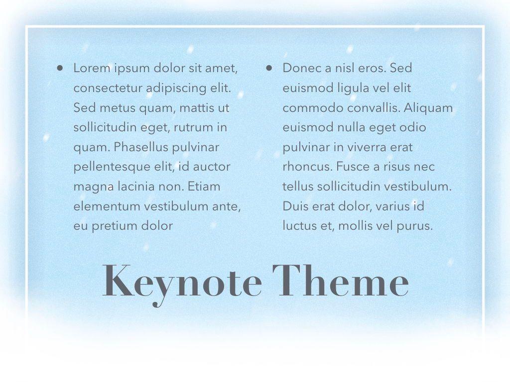 Blizzard Keynote Template, Slide 13, 05304, Presentation Templates — PoweredTemplate.com