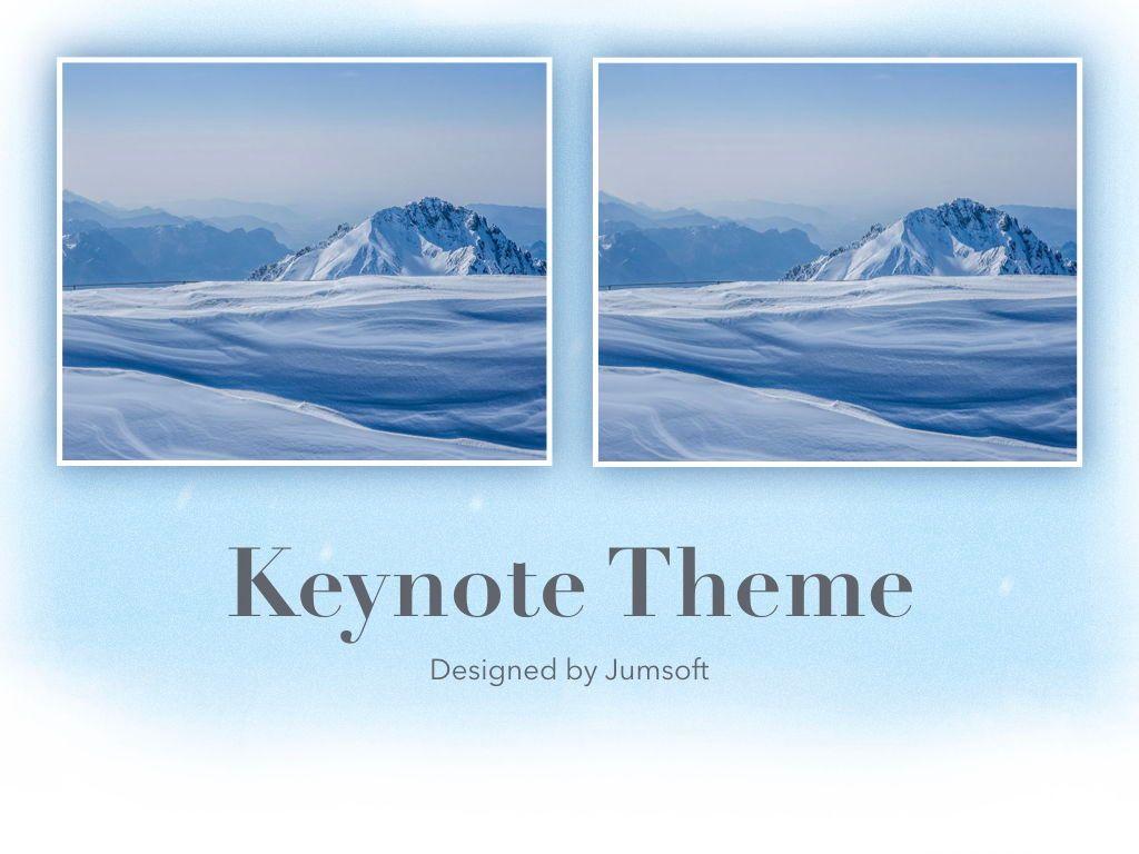 Blizzard Keynote Template, Slide 14, 05304, Presentation Templates — PoweredTemplate.com