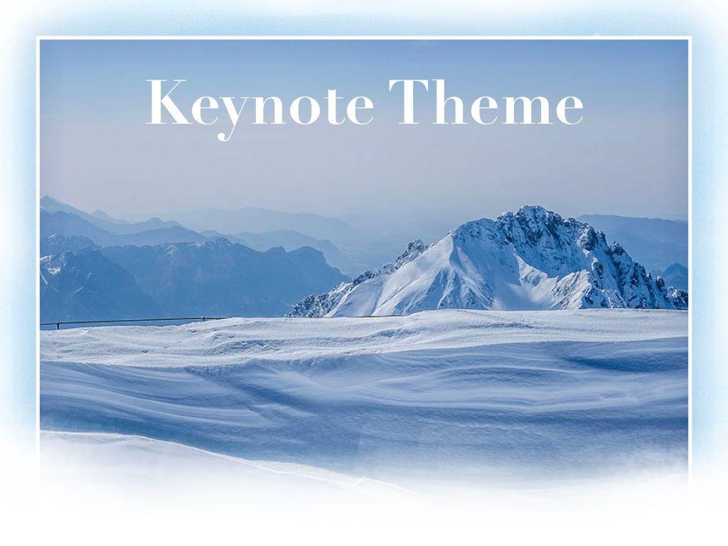 Blizzard Keynote Template, Slide 15, 05304, Presentation Templates — PoweredTemplate.com