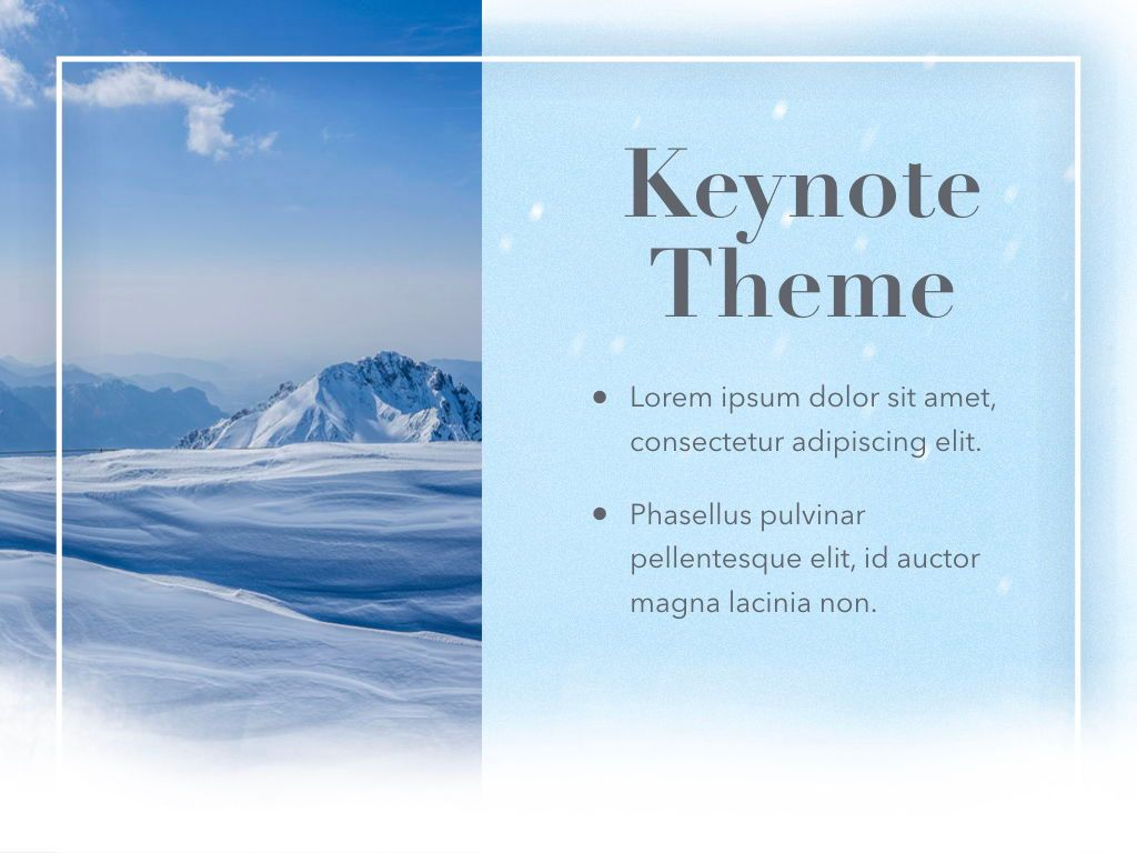 Blizzard Keynote Template, Slide 18, 05304, Presentation Templates — PoweredTemplate.com