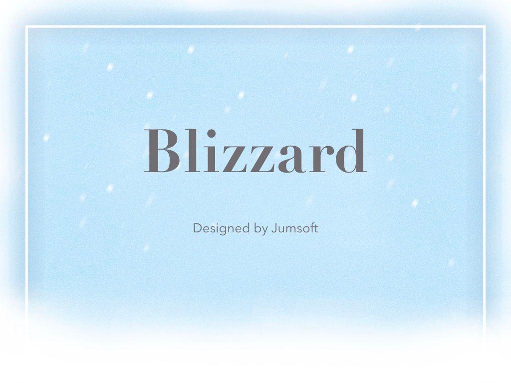 Blizzard Keynote Template, Slide 3, 05304, Presentation Templates — PoweredTemplate.com