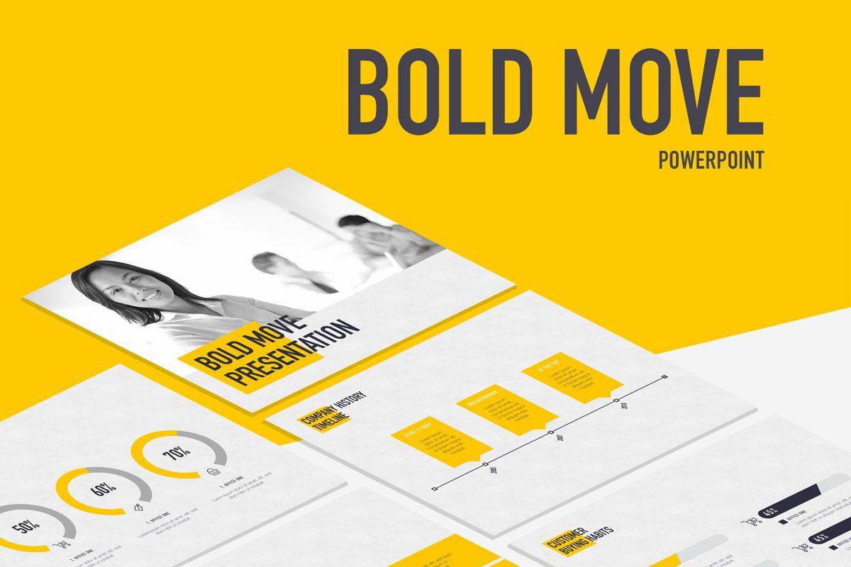 Bold Move PowerPoint Template, 05305, Presentation Templates — PoweredTemplate.com