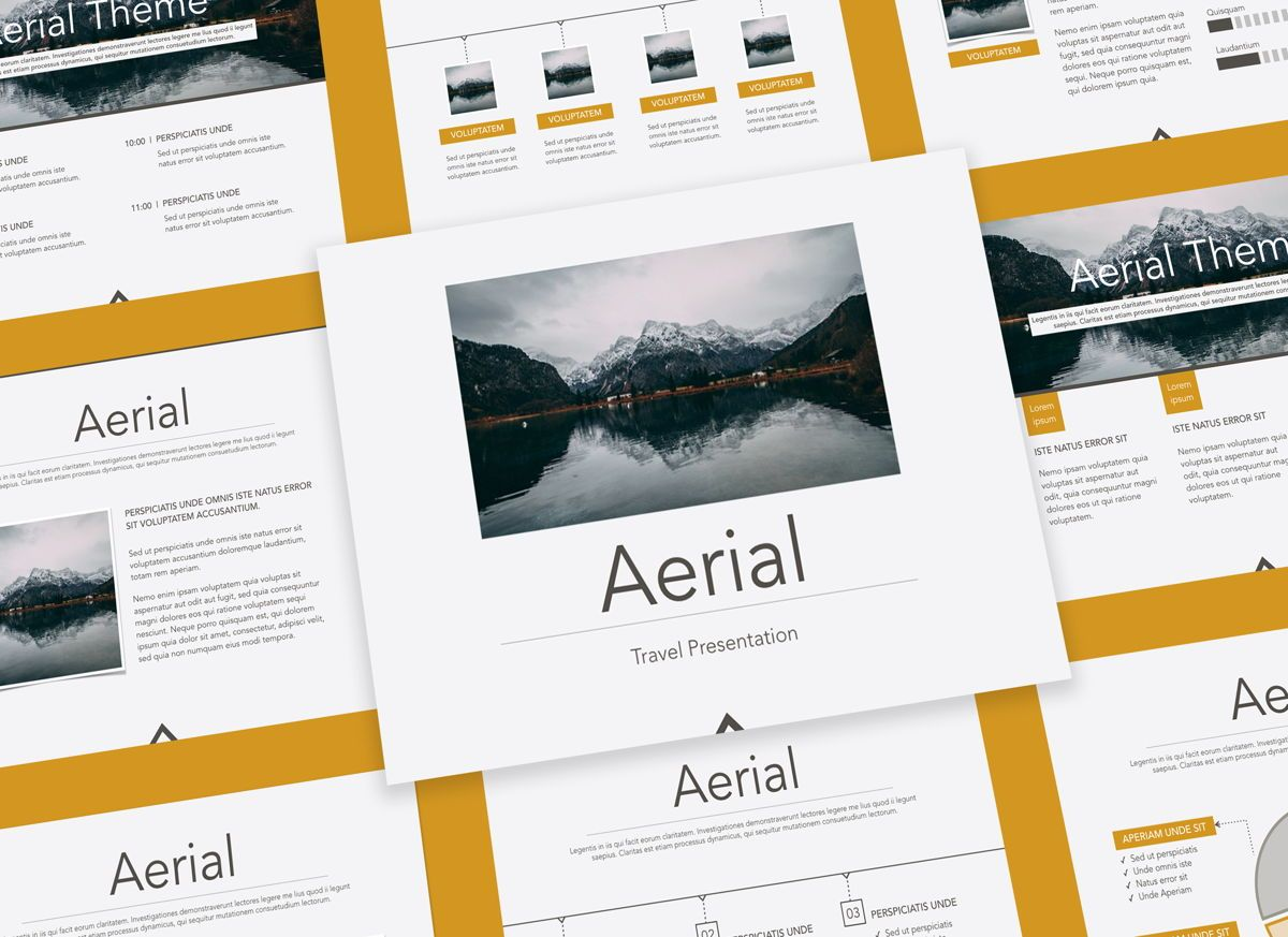 Aerial Powerpoint Presentation Template, 05306, Presentation Templates — PoweredTemplate.com